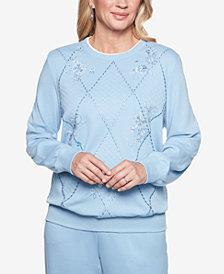 Alfred Dunner At Ease Embellished Sweatshirt