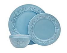 Dublin Blue  12-Pc. Dinnerware Set, Service for 4