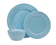 Godinger Dublin Blue  12-Pc. Dinnerware Set, Service for 4