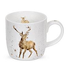 "Portmeirion Wrendale 11 oz. Deer Mug ""Wild at Heart"" - Set of 6"