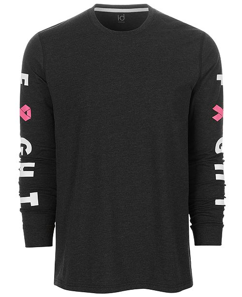 Ideology Men s Breast Cancer Awareness Graphic Long-Sleeve T-Shirt ... 1660432a3