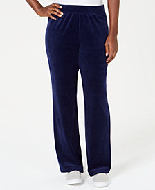 Karen Scott Velour Pull-On Pants, Created for Macy's