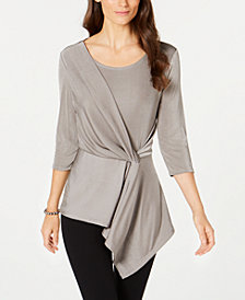 Alfani Metallic Twist Top, Created for Macy's