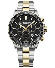 RAYMOND WEIL Men's Swiss Chronograph Tango 300 Two-Tone PVD Stainless Steel Bracelet Watch 43mm
