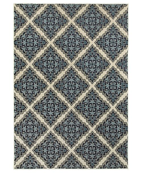 "Oriental Weavers Linden 7816B Ivory/Blue 1'10"" x 3' Area Rug"