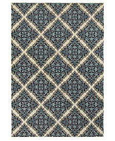 "Oriental Weavers Linden 7816B Ivory/Blue 7'10"" x 10'10"" Area Rug"