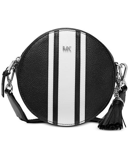 2703da475911b9 Michael Kors Logo Pebble Leather Canteen Bag & Reviews - Handbags ...
