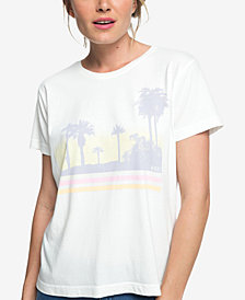 Roxy Juniors' Sun Faded Cotton Graphic-Print T-Shirt