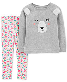 Carter's Toddler Girls 2-Pc. Bear Top & Leggings Set