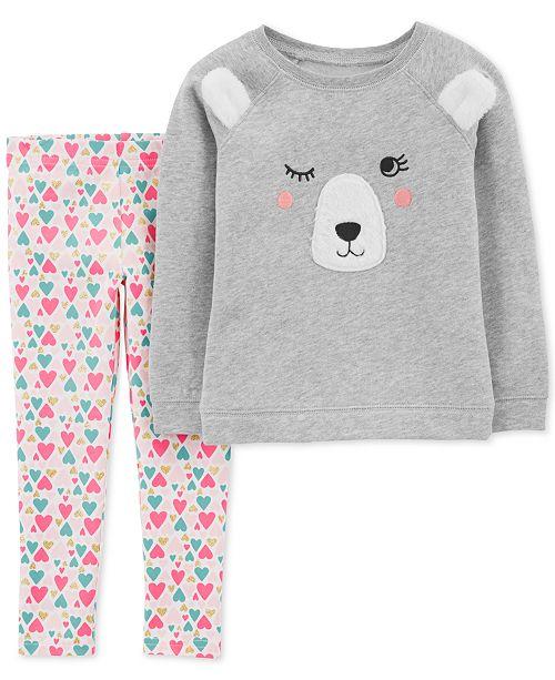 6aeda447b0d3dd Carter's Toddler Girls 2-Pc. Bear Top & Leggings Set & Reviews - Sets ...