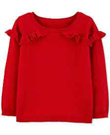 Carter's Toddler Girls Ruffled Cotton Sweater