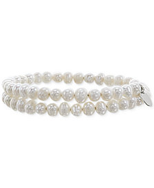 Cultured Freshwater Pearl (6mm) Wrap Bracelet