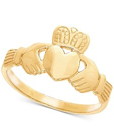 Men's Claddagh Ring in 14k Gold
