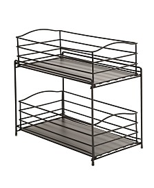 Seville Classics Stackable 3 Tier Sliding Double Basket Cabinet Organizer With Liners