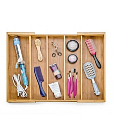 Bamboo Expandable 5 Large Compartment, Cutlery Drawer Tray Organizer