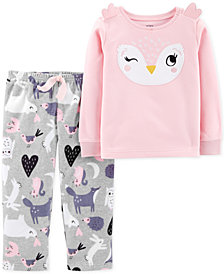 Carter's Little & Big Girls 2-Pc. Owl Pajama Set