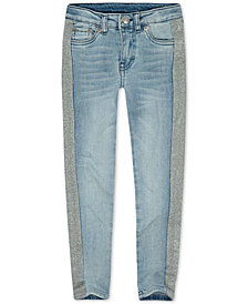 Levi's® Big Girls 710 Super Skinny Bleach-Out Star Jeans