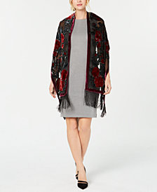 I.N.C. Sparkle Rose Fringe Wrap, Created for Macy's