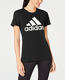 adidas ClimaLite® Shine Logo T-Shirt, Created for Macy's