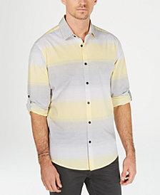 Alfani Men's Regular-Fit Ombré Stripe Shirt, Created for Macy's