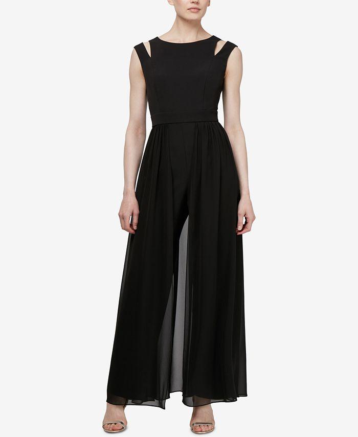 SL Fashions - Cold-Shoulder Walkthrough Jumpsuit