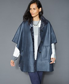 The Fur Vault Shearling Lamb Cape