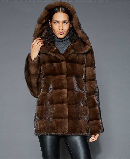 3afee02d9e9 The Fur Vault Hooded Mink Fur Jacket   Reviews - The Fur Vault ...