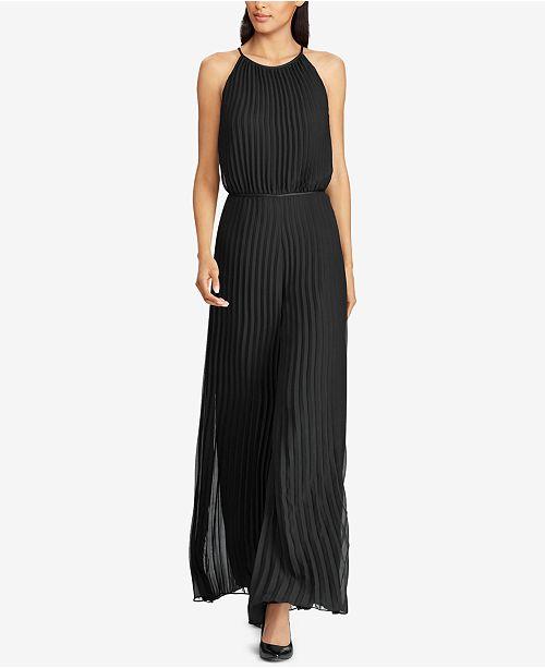 3a3c3ec3136e Lauren Ralph Lauren Pleated Wide-Leg Jumpsuit   Reviews - Dresses ...