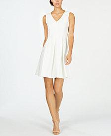 Calvin Klein Petite Illusion-Back Fit & Flare Dress