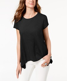 Style & Co Handkerchief-Hem T-Shirt, Created for Macy's
