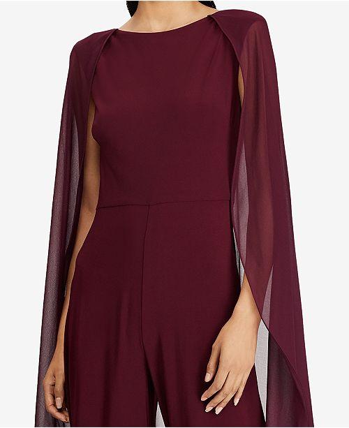 d70325e011a Lauren Ralph Lauren Chiffon-Overlay Jumpsuit   Reviews - Dresses ...