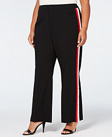 Calvin Klein Plus Size Side-Stripe Pants