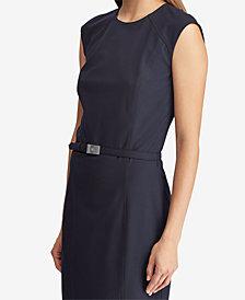 Lauren Ralph Lauren Belted Sleeveless Dress