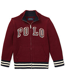 Polo Ralph Lauren Toddler Boys Full-Zip Cotton Sweater