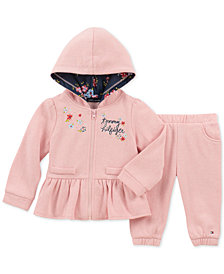 Tommy Hilfiger Baby Girls 2-Pc. Peplum Hoodie & Pants Set