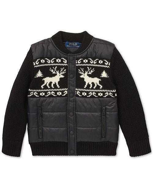 f38ed7ffcbc Polo Ralph Lauren Toddler Boys Merino Wool Hybrid Jacket   Reviews ...