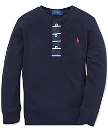 Polo Ralph Lauren Little Boys Mesh Cotton Henley Shirt