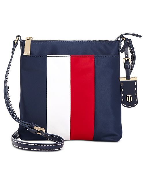 ee60802947a ... Tommy Hilfiger Julia North South Corporate Stripe Crossbody ...