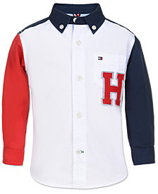 Tommy Hilfiger Baby Boys Colorblocked Cotton Shirt