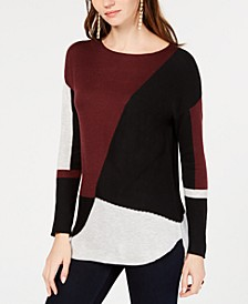 INC Colorblocked Sweater, Created for Macy's