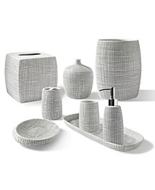 Cestino Embossed Porcelain Bath Accessory Collection
