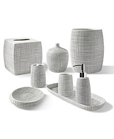 Kassatex Raffia Embossed Porcelain Bath Accessories