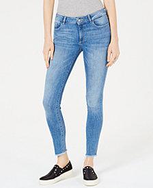 DL 1961 Emma Frayed-Cuff Skinny Jeans