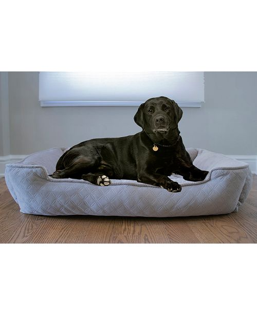 Arlee Home Fashions CLOSEOUT! Arlee Lounger and Cuddler Style Pet Bed, Large