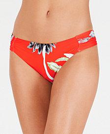 Trina Turk Shangri La Floral Shirred Side Hipster Bottoms
