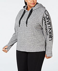 Calvin Klein Performance Plus Size Logo Hoodie