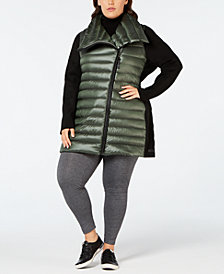 Calvin Klein Performance Plus Size Insulated Metallic Walker Coat