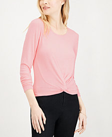 Maison Jules Twist-Front Top, Created for Macy's