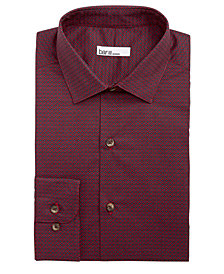 Bar III Men's Classic/Regular Fit Stretch Connected Medallion Print Dress Shirt, Created for Macy's