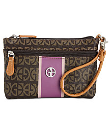 Giani Bernini Block Signature Stripe Wristlet, Created for Macy's